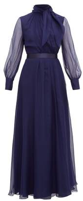Max Mara Okra Gown - Womens - Blue