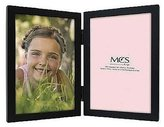 MCS WILLOW WOODS Double Black hinged frame by 5x7 by
