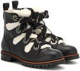 Jimmy Choo Bei Flat leather ankle boots