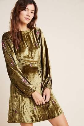 Seen Worn Kept Nicoline Embroidered Velvet Dress