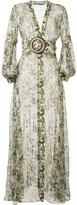 Silvia Tcherassi sheer camouflage-print maxi dress