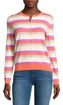 Lord & Taylor Striped Knit Cardigan