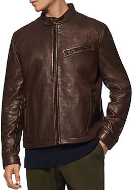 Andrew Marc Cumberland Leather Moto Jacket
