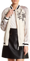 Max Studio Embroidered Bomber Jacket