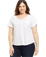 Style&Co. Style & Co Plus Size V-Neck Tee