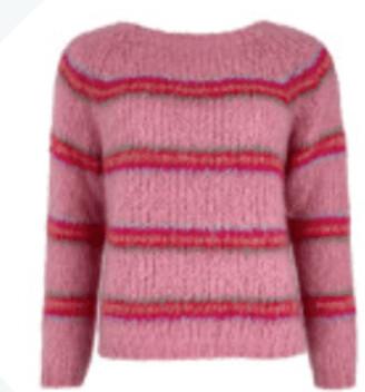 Margaux Lurex Trim Striped Sweater
