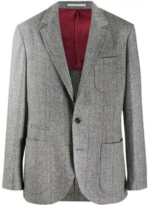Brunello Cucinelli Striped Single Breasted Blazer