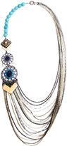 FINE JEWELRY Bijoux Bar Multi Color Jade Statement Necklace