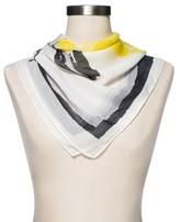 Merona Women's Fashion Fruit Print Scarf White