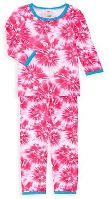 Esme Little Girl's & Girl's Starburst 2-Piece Three-Quarter Sleeve Pajama Set