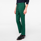 Paul Smith Men's Slim-Fit Green Wool-Mohair Trousers