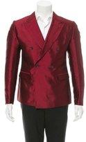 Dolce & Gabbana Double-Breasted Silk Blazer w/ Tags