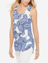 The Limited Linen Blend Paisley Tank