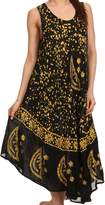 Sakkas B900 Moon and Stars Batik Caftan Tank Dress / Cover Up