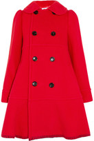 Comme des Garcons Double-breasted Wool-blend Coat - Red