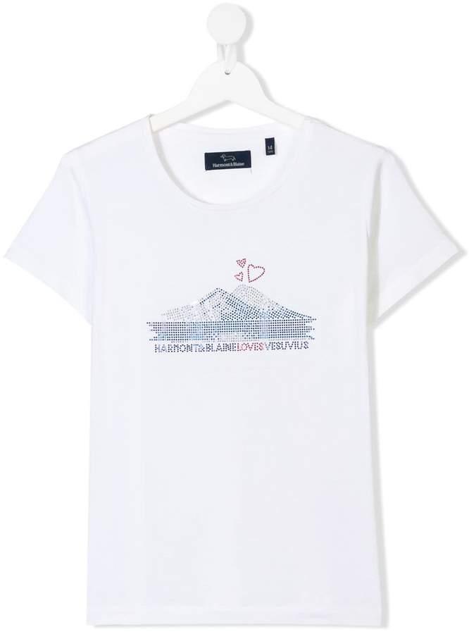 Harmont & Blaine Junior TEEN embellished logo T-shirt