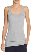 Vince Ribbed Scoop Neck Tank