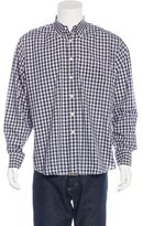Billy Reid Gingham Print Shirt