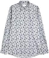Eton Floral-print contemporary cotton shirt