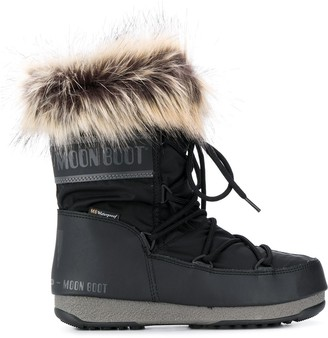 Moon Boot Faux-Fur Trim Moon Boots