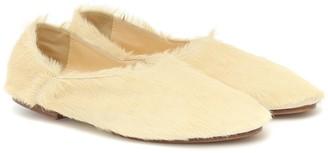 Jil Sander Calf-hair ballet flats
