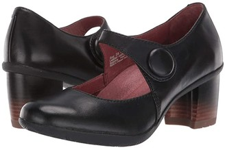 Dansko Page (Black Waterproof Burnished) Women's Shoes