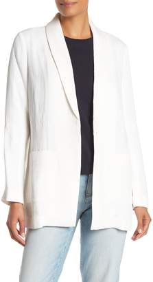 Eileen Fisher Open Front Shawl Neck Long Jacket