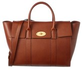 Mulberry Bayswater Natural Grain Leather Satchel With Strap.