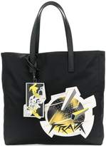 Prada planet patch tote bag