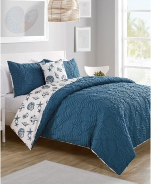 VCNY Home Beach Island 4-Pc. Full/Queen Reversible Duvet Cover Set Bedding