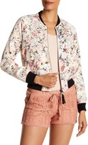 Jolt Floral Tasseled Bomber Jacket (Juniors)