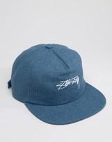 Stussy Strapback Cap Melton Wool Adjustable