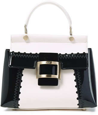 Roger Vivier Viv Cabas Mini Smooth And Glossed-leather Tote