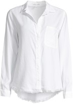 Bella Dahl Frayed Hem Button-Down Shirt