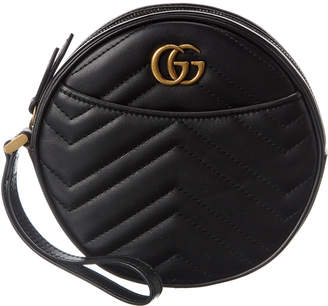 Gucci Gg Marmont Leather Wristlet