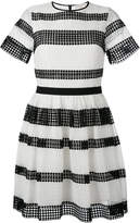 MICHAEL Michael Kors striped pleated dress