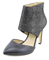 INC International Concepts Rachie Women Pointed Toe Leather Black Heels.