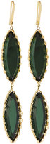 Lana 14k Midnight Duo Marquise Drop Earrings, Green