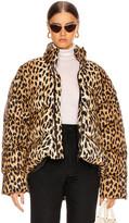 Balenciaga Leopard Swing Puffer in Beige | FWRD
