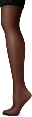 Pretty Polly Women's Nylons-10D Gloss Lace Top Hold Ups Tights 10 DEN