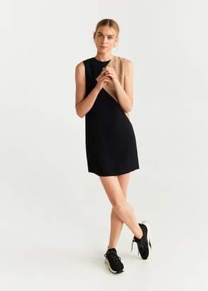 MANGO Monochrome shift dress