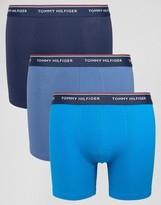 Tommy Hilfiger Stretch Trunks In Longer Length In 3 Pack