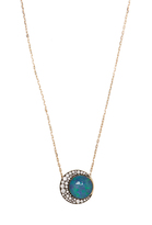 NOOR FARES Diamond, opal & grey-gold necklace