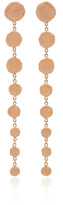 Jacquie Aiche Rose Gold 8 Graduated Hammered Disc Drop Earrings