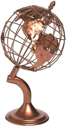 Transpac Metal 15 in. Bronze Spring Wire Desktop Globe