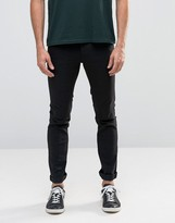 Solid Jeans In Skinny Fit Black Denim With Stretch