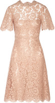 Valentino Cotton-blend Lace Dress - Pastel pink