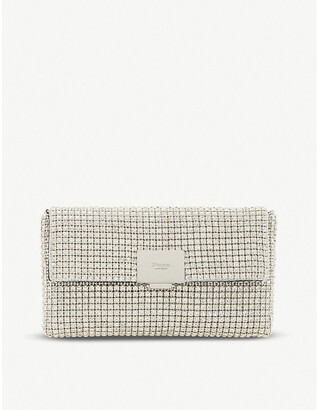 Dune Evanderr metallic clutch-bag