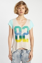 Rebel Yell 82 Boyfriend Tie Tee in Vintage Mint