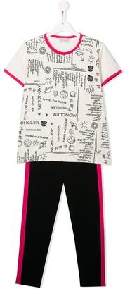 Moncler Enfant TEEN two-piece sweatpants set
